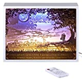 Vibes Genius 928US Papercut Light Boxes, Romantic Lover Valentines Day Love Style, Unique Birthday Gift Ideas for Girlfriend, Boyfriend, Wife, Husband, Young Women or Men, Her or Him (Love is)