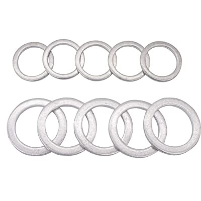 Rear Differential Fill and Drain Plug Gaskets Crush Washers Seals Rings for Honda Accord Acura Civic Ridgeline Odyssey CRV CR-V Pilot Fit Element, Replacement for the Part # 94109-20000 90471-PX4-000: Automotive