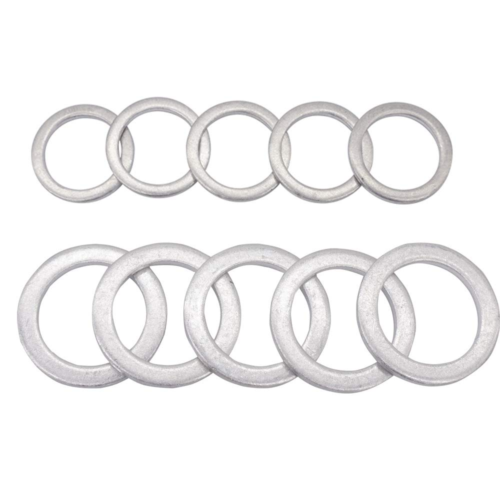 Rear Differential Fill and Drain Plug Gaskets Crush Washers Seals Rings for Honda Accord Acura Civic Ridgeline Odyssey CRV CR-V Pilot Fit Element, Replacement for the Part # 94109-20000 90471-PX4-000 Waylin