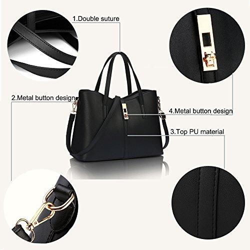 Tote Bag del borsa del SIFINI della cuoio borsa donne 4pcs Gold supporto dell'unità di di carta elaborazione delle Bag Shoulder modo Set nWgHO7nP