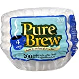 Pure Brew 4 Cup Coffee Basket Disposable Filters - 200 Ct