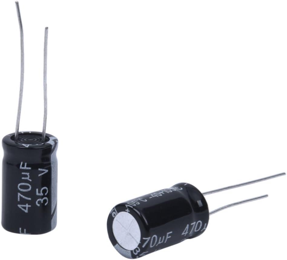paquet de 10 pi/èces BOJACK 470uF 35V 10x13mm Condensateurs 470 MFD 35 Volts 0.39x0.51 Pouces /± 20/% Condensateurs /électrolytiques en aluminium
