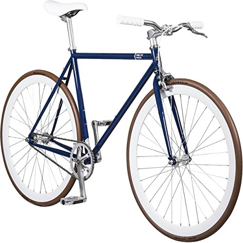 Fixed Yoke (Pure Fix Original Fixed Gear Single Speed Bicycle, Yoke Navy/White/Brown, 50cm/Small)