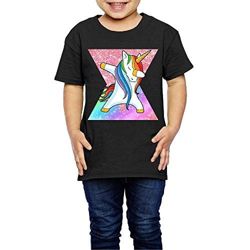 DSEPAA Dabbing Unicorn DAB With Rainbow Boys Girls Cotton Short Sleeve T-Shirt
