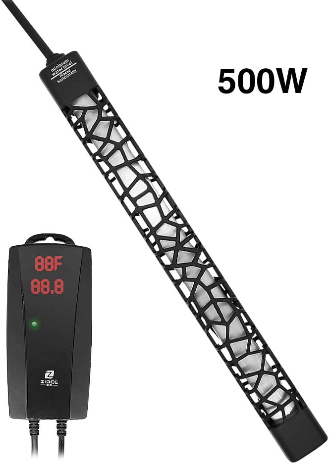 UPETTOOLS Submersible Aquarium Heater, Aquarium Fish Tank Water Thermostat, Adjustable for 3~120 Gallon with Temperature Controller 50W/100W/250W/300W/500W 2 Suction Cups