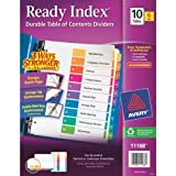 Avery Ready Index Table of Contents Dividers, 10-Tab Set, 6 Sets (11188)