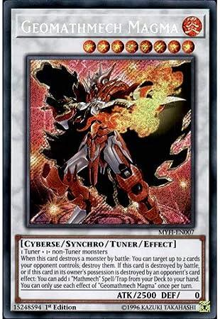 edizione NUOVO Myfi-de007 geomathemech magma Secret Rare YU-GI-OH 1