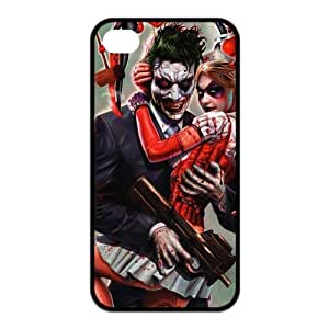 4s Case, iPhone 4 4s Case - Fashion Style New Joker Painted Pattern Soft Cover Case for iPhone 4/4s(Black/white)