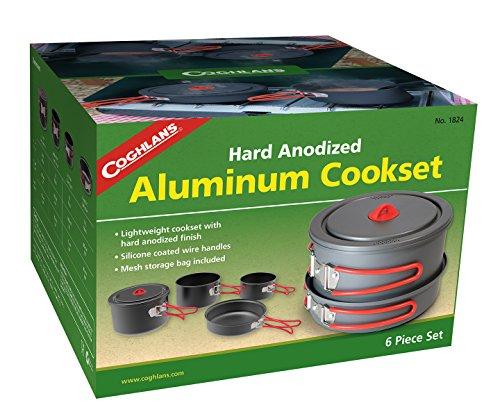 Aluminum Cookset - Coghlan's Anodized Aluminum Cook Set, Grey, Multiple