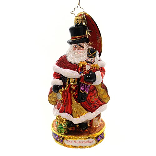 Christopher Radko Here Comes Drosselmeyer Santa Glass Christmas Ornament - Nutcracker Series - New for 2016 - 7