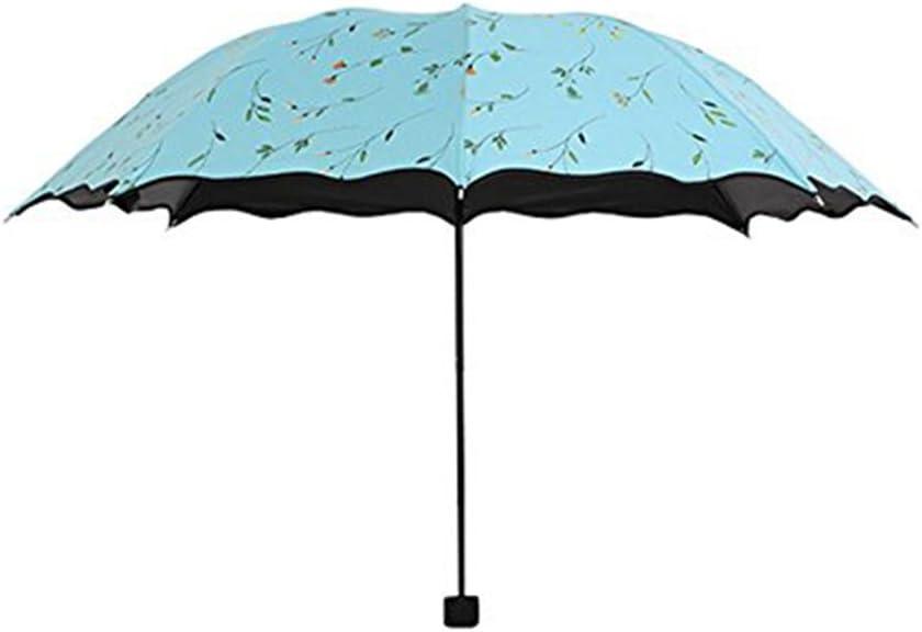 Ruikey Parapluie Pliant cr/éatif//Coupe-Vent Parapluie ombrelle//Canne Parapluie,Anti-UV et Anti-d/érapant