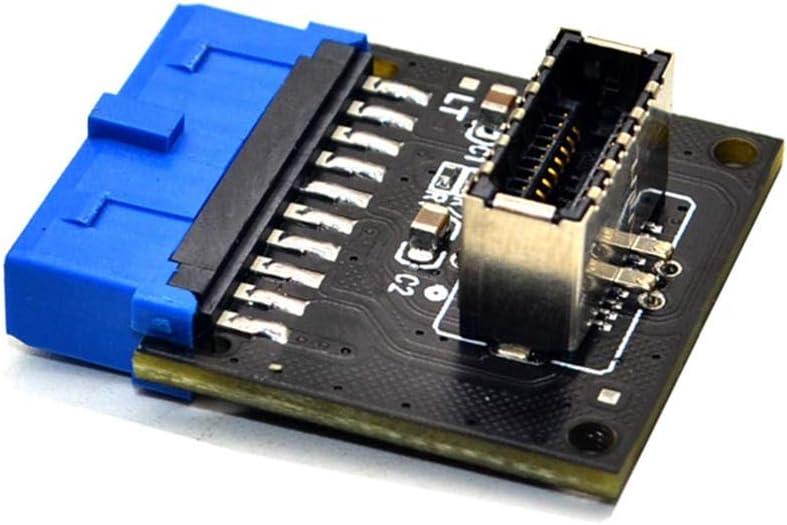 JMT USB 3.1 Front Panel Socket naar USB 3.0 20Pin Header Mannelijke Verlengkabel Adapter voor Moederbord Kaart 20P USB naar TYPE-E Connector 5 stuks. 1 exemplaar