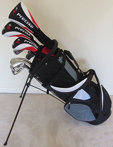 - Mens Complete Golf Set All Graphite Shafts Driver, Fairway Wood, Hybrid, Irons, Putter & Stand Bag Firm Flex