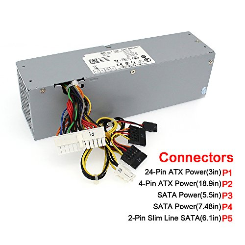 S-Union 240W Power Supply Unit PSU for Dell OptiPlex 390 790 960 990 3010 9010 Small Form Factor System SFF H240AS-00 H240ES-00 D240ES-00 AC240AS-00 AC240ES-00 L240AS-00 3WN11 PH3C2 2TXYM 709MT J50TW by S-Union (Image #1)