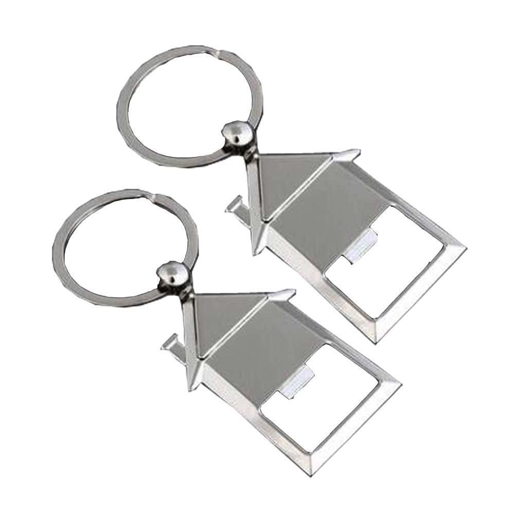 Blancho Bedding 2Pcs [Casa] Apribottiglie portachiavi in acciaio portatile birra/soda apribottiglie