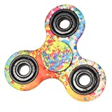 Balai Tri-Spinner Fidget Hand Spinner Camouflage Multi-Color, EDC Focus Toys For Kids & Adults (E)