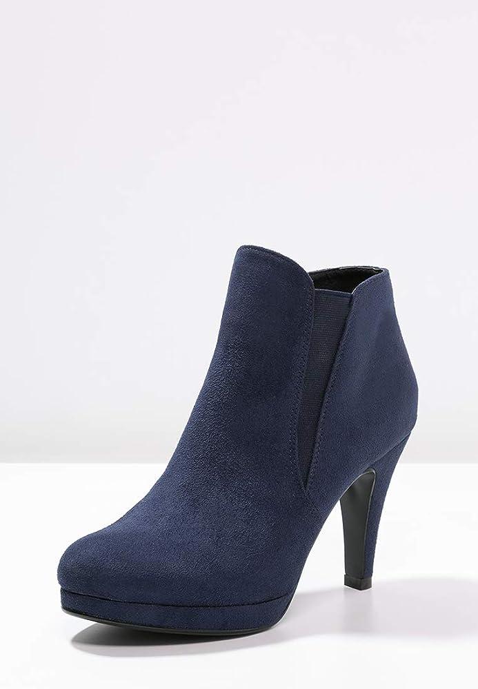 Anna Field Botines de Tacón Alto para Mujer - Botas Stiletto con Tacón - Botas de Plataforma – Botas con Pieza Elástica – Elegante Chelsea Boots