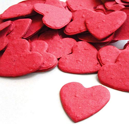 - Heart Shaped Plantable Seed Confetti (Bright Red) - 350 pieces/bag