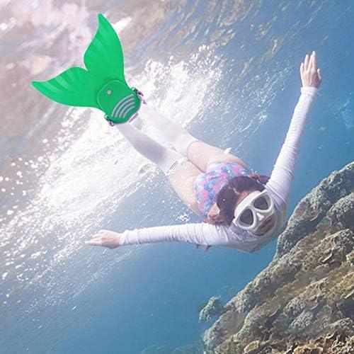 Edumarket241 Swimming Fins Kids Swimming Fins Training Flipper Mermaid Swim Fin Swimming Foot Flipper Diving Feet Tail Monofin for Children-B2