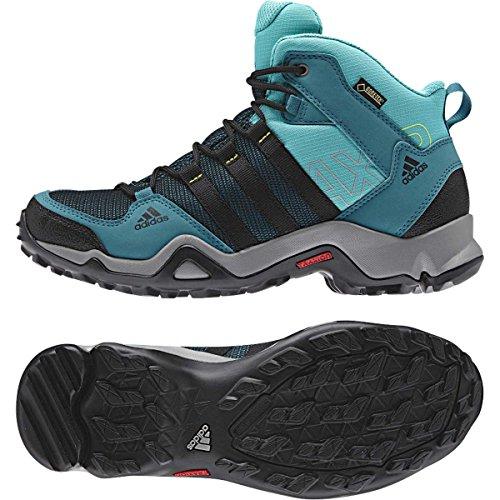 Scarpone Da Trekking Adidas Outdoor Ax 2 Mid Gtx - Verde Acqua Naturale / Nero / Menta Vivace - 5.5