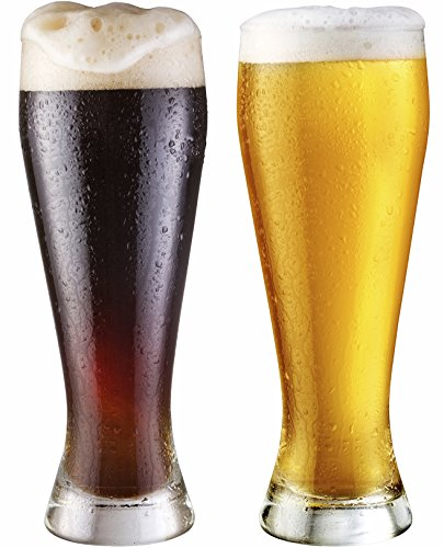 Circleware Basic Pilsner Beer Glasses, Set of 4, 19 oz, Clear