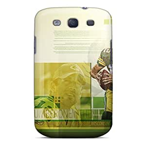 Scratch Resistant Hard Phone Covers For Samsung Galaxy S3 (VVf9553UIEV) Allow Personal Design Colorful Green Bay Packers Series