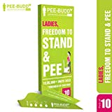 PeeBuddy 10 Funnels Female Urination Device | No Mess Disposable Urinal Funnel|Travel, Camping, Hiking, Festivals, and Outdoor Activities | Paper Based Stand and Pee Funnel for Women, Girls