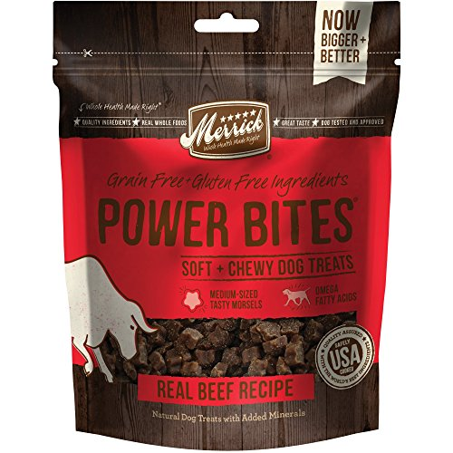 - Merrick Power Bites Real Texas Beef Recipe Treats 6Oz