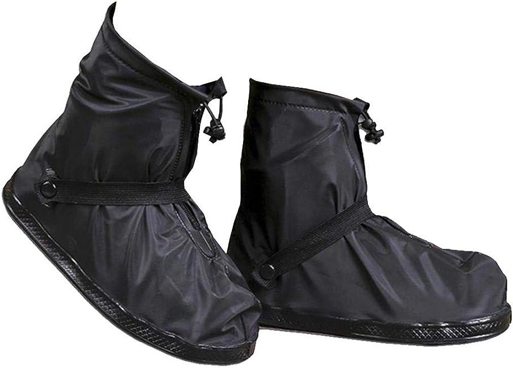 traderplus Rain Shoe Covers Reusable PVC Rainproof Snow Boot Protectors for Men and Women