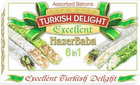 (Hazer Baba Mixed Turkish Delight Assorted Batons, 350g)