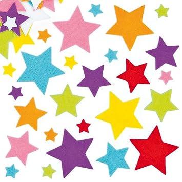 Pegatinas De Fieltro En Forma De Estrellas Para Decorar