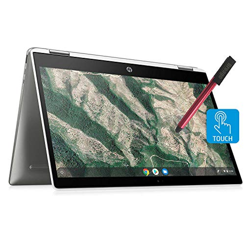 HP-Chromebook-X360-14-Convertible-2-in-1-Touchscreen-Laptop-Computer-Intel-Celeron-N4000-up-to-26GHz-4GB-DDR4-RAM-32GB-eMMC-USB-C-Webcam-Chrome-OS-BROAGE-64GB-Flash-Stylus-Online-Class-Ready