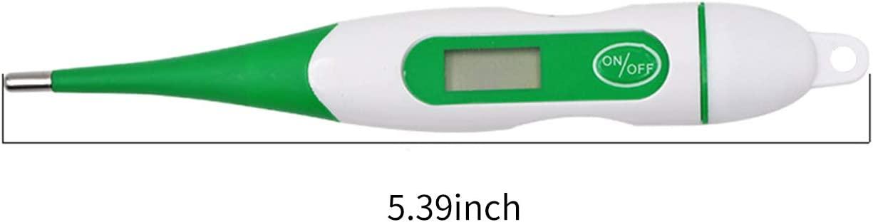 Fast Reading Accurate Waterproof Pet Digital Medical Thermometer for Dogs Horse Cats Pigs Sheep Digital LED Display Thermometer Blusea Animal Thermometer