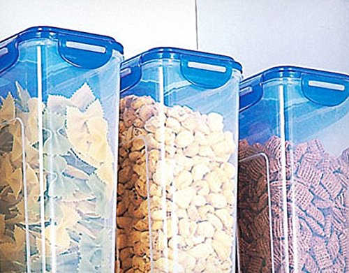LOCK&LOCK Plastic Cereal Dispenser Dry Food Storage Keeper 3.9L(16.48 cup), Pack Of 4 by LOCK & LOCK (Image #5)