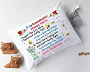 Personalize Granddaughter Pillowcase from Grandma Grandpa I Hugged This Soft Pillow Customized Granddaughter N