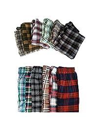New Men's Plaid Cotton Pajama Bottoms Sleepwear - 3/5 Pack