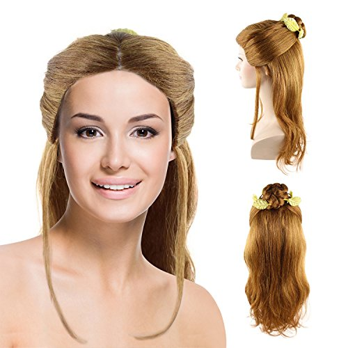 Cece Womens bell Long hair curly wig with bun