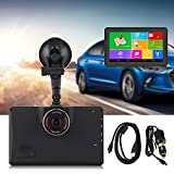 Keenso 7inch Touch Screen GPS Navigation Android 4.4 1080P DVR 159 Degree Wide Angle Recorder with Bluetooth Lifetime Map Update Transmitter WiFi 512MB 8G for Car Trucks Vehicles(Australia)