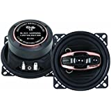 DS18 BD-G44 Black Diamond 240 Watts 4-Inch 3-Way Coaxial Speakers - Set of 2