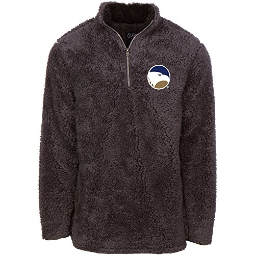 Oxford NCAA Georgia Southern Eagles Men's Sherpa Long Sleeve 1/4 Zip Pullover, X-Small, Magnet