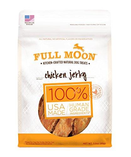 Full Moon All Natural Human Grade Dog Treats, Chicken Jerky,