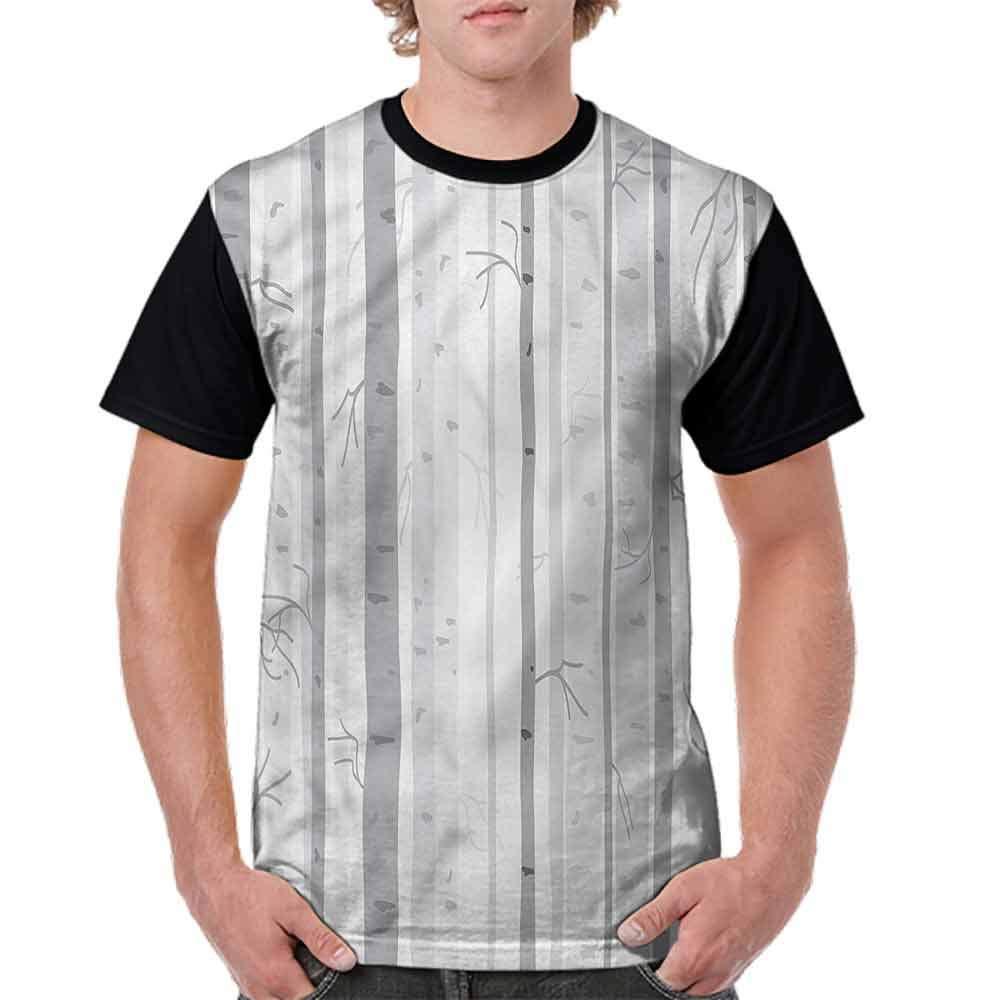 BlountDecor Fashion T-Shirt,Big and Small Circles Doodle Fashion Personality Customization