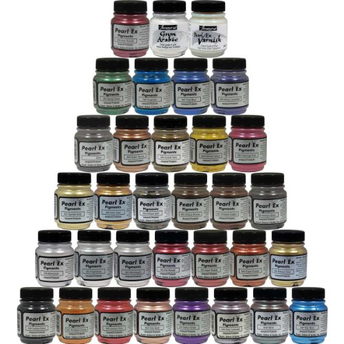 Jacquard Custom Pearl Ex Powdered Pigments 33 Color Set by Jacquard