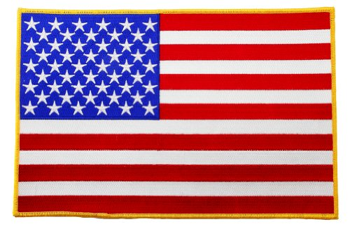 Large American Flag Embroidered Patch USA United States of A