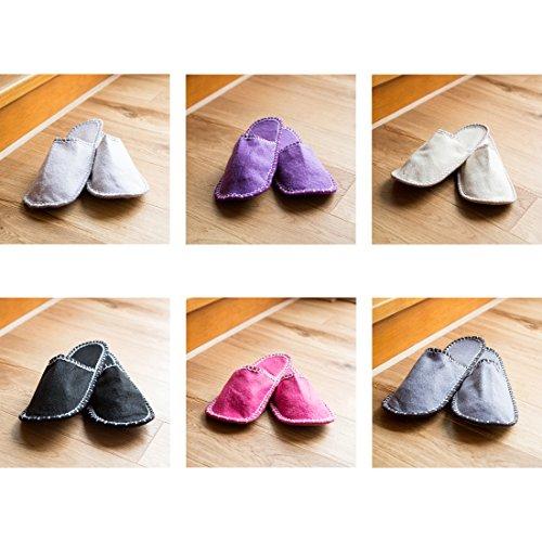 paia 13 tasca ospiti pezzi da in gli diverse misure per per Set 6 gli ospiti di di con pantofole stella motivo 3 feltro Levivo a con in pantofole pantofola a6gvZq0wy