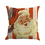 Christmas Printing Dyeing Sofa Bed Home Decor Pillow Cover Cushion Cover I
