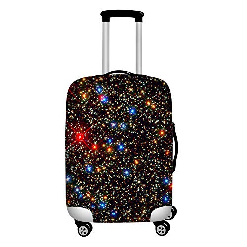 Upetstory Novelty Galaxy Print Luggage Cover Carry On Fits 18-21 Inch Case Clear Suitcase Cover Stretch Travel…