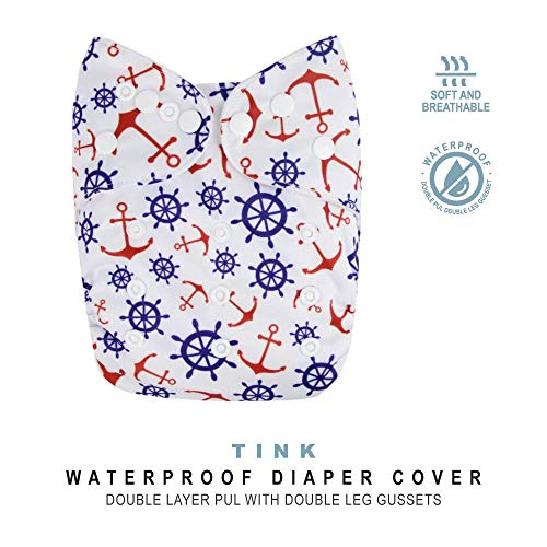 - Baby Tooshy Cloth Diaper Covers with Double Gussets. Waterproof, Adjustable & Reusable. One Size for Prefolds/Flats/ Inserts. Tink