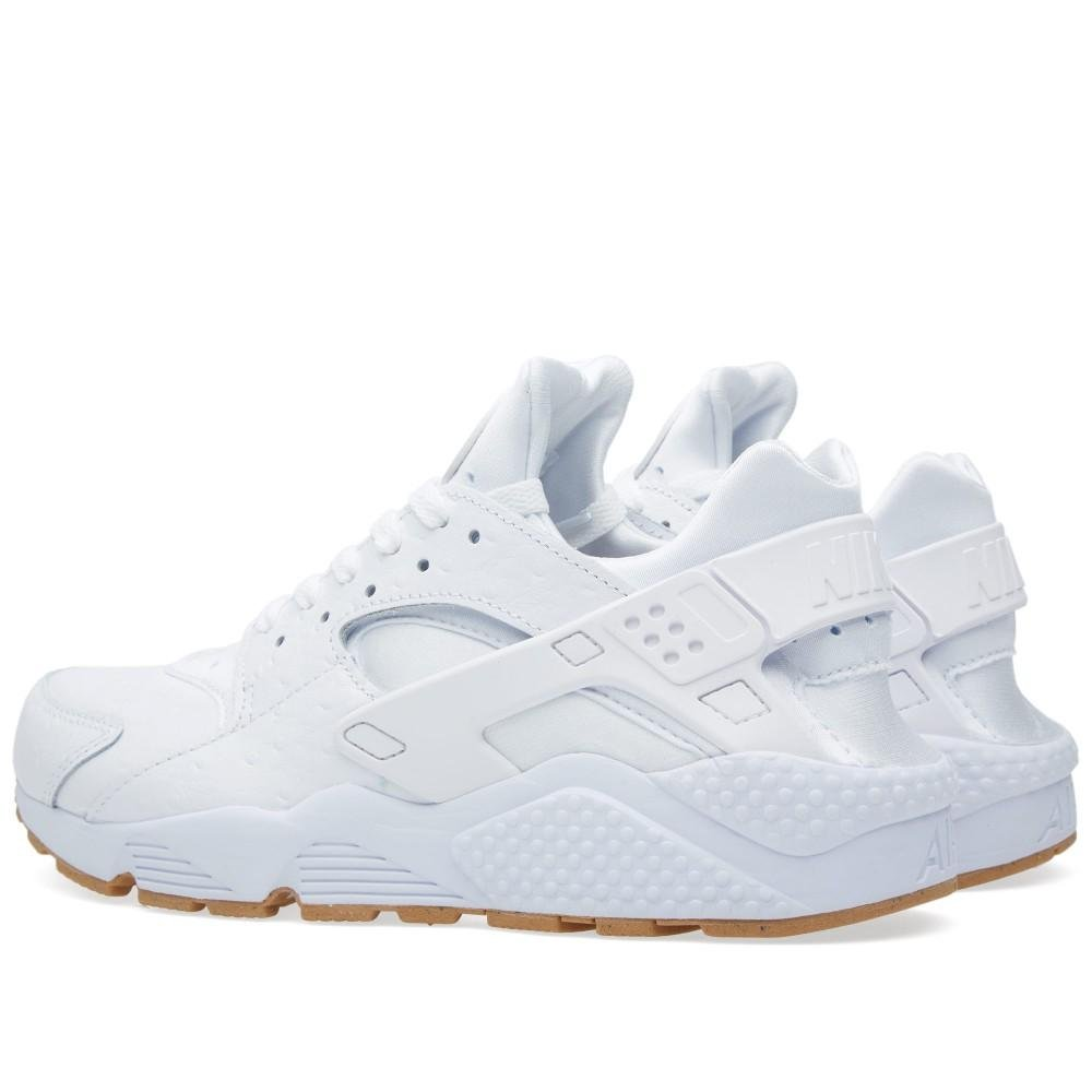 official photos d3463 10ee8 Amazon.com   Nike Men Air Huarache Run PA All White Out Ostrich Running Gum  705008-111 (8.5)   Road Running