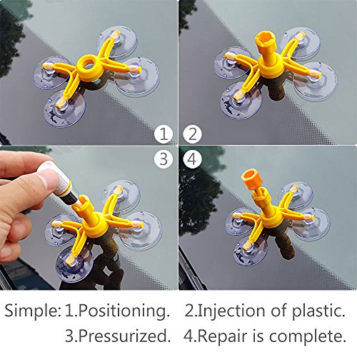 Mookis Windshield Repair Kit to Fix Car Cracks,Chips,Bull's Eyes and Starts by Mookis (Image #3)